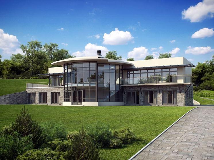 Casa naturale perfettamente inserita nel verde