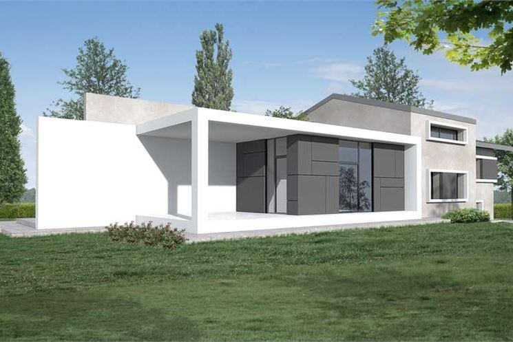 Una moderna casa unifamiliare