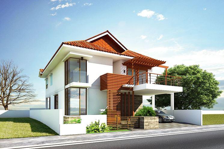 Esempio di casa moderna eco-sostenibile