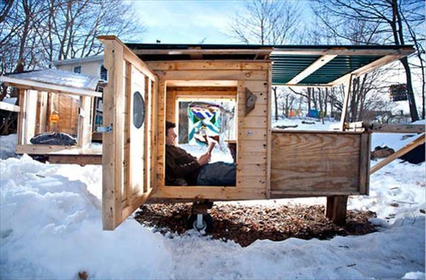 Come Costruire La Casa In Pallet Costruire Una Casa Casa In Pallet