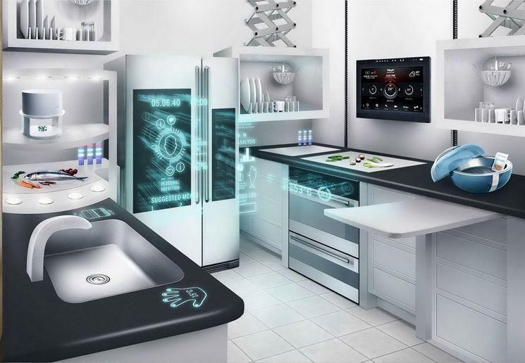 Un modello di cucina futuristica