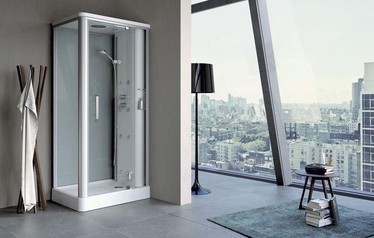 Cabine Doccia Rettangolari : Cabina doccia idromassaggio rettangolare porte scorrevoli