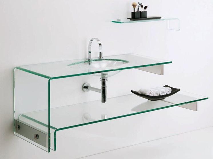 Lavabo in cristallo verde
