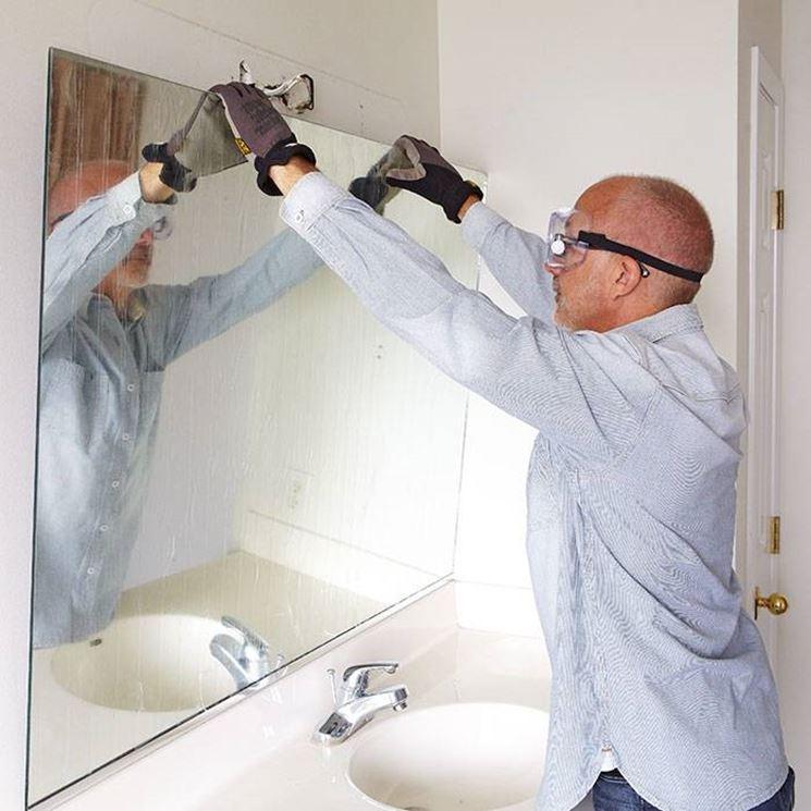 installazione specchio