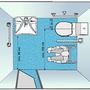 Metratura adeguata per realizzare un bagno per disabili