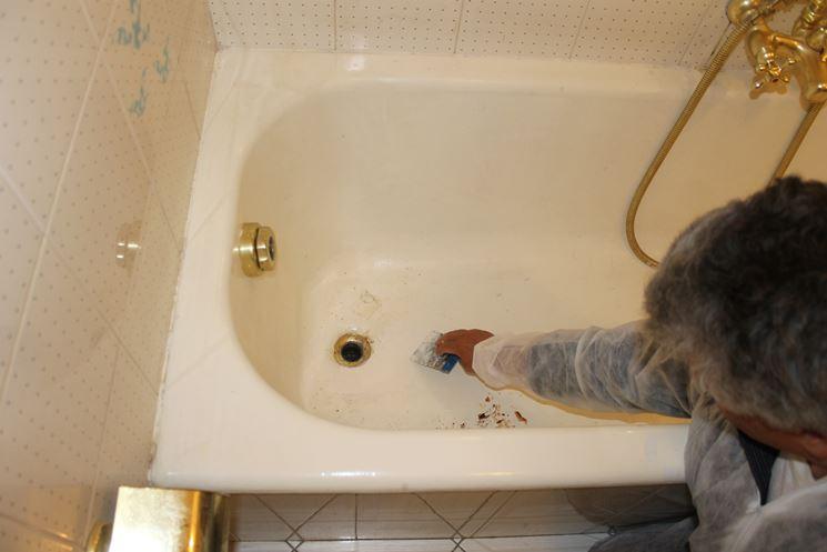 Verniciare Vasca Da Bagno Ghisa : Verniciare vasca da bagno ghisa cheap bleu provence bagno retr