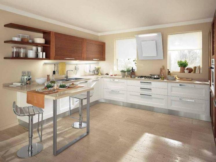 caratteristiche cucina con penisola la cucina