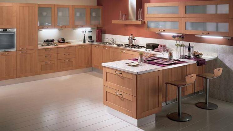 Caratteristiche cucina con penisola la cucina - Cucine in muratura con penisola ...