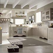 Un esempio di cucina in muratura moderna