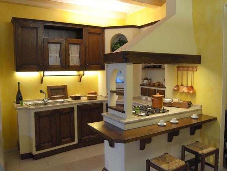 Cucina in muratura artigianale