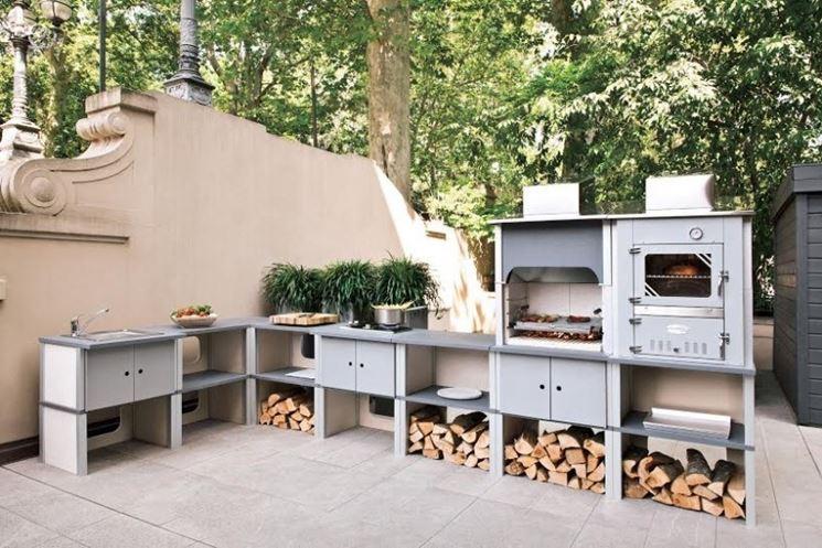 Cucine da esterno - La cucina - Caratteristiche delle cucine da esterno