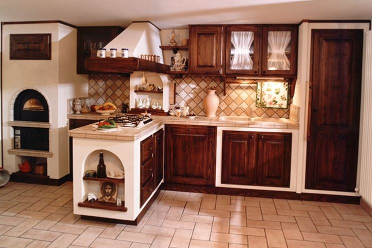 cucine in muratura legno