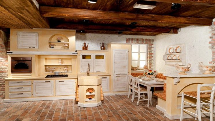 Cucina rustica con forno a legna au11 pineglen - Forno a legna cucina moderna ...