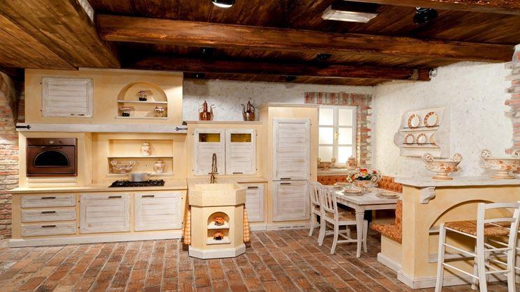 Cucina rustica con forno a legna pl68 regardsdefemmes - Cucina rustica muratura ...