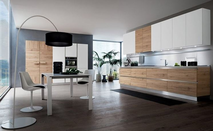 Cucine moderne in legno la cucina le principali cucine moderne in legno - Tipologie di cucine ...