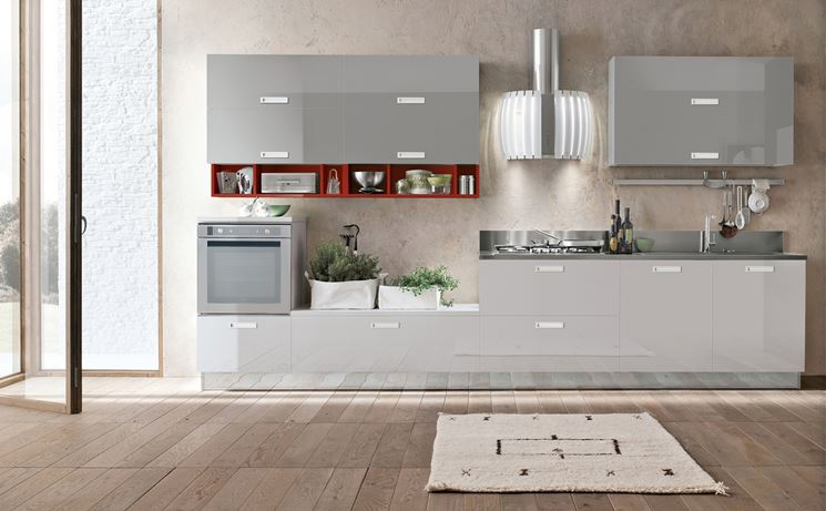 Un esempio di cucina in linea