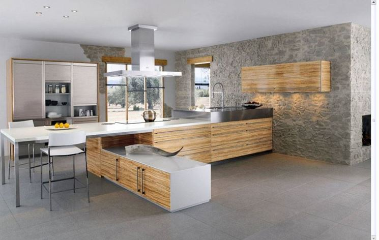 Cucine Moderne Muratura Con Isola