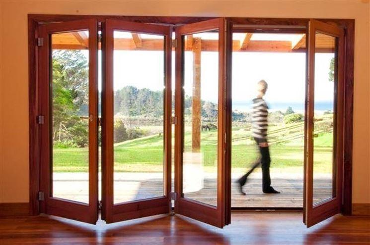 Caratteristiche delle porte scorrevoli le porte quali - Porte finestre a libro ...