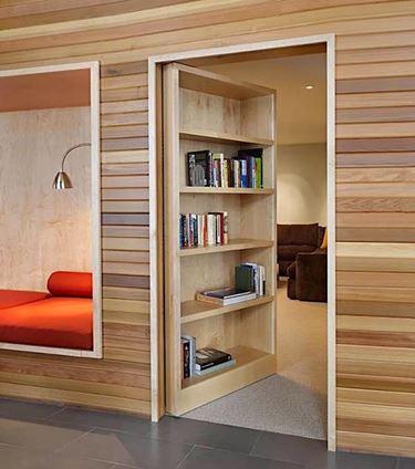 Porta raso muro con libreria