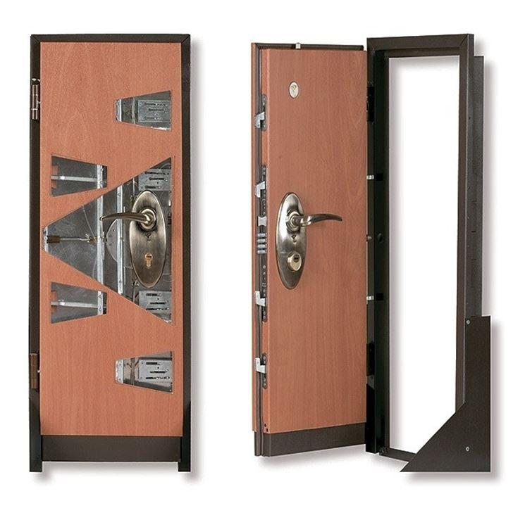 Spaccato di una porta di sicurezza