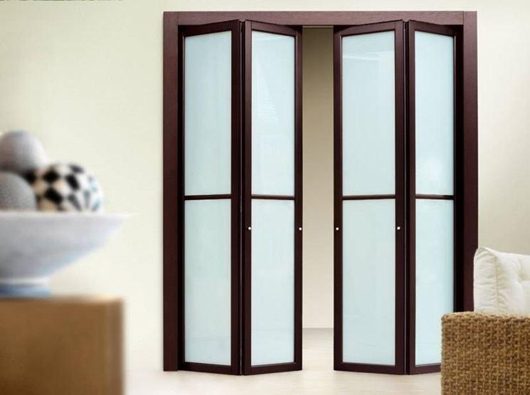 Montare porte a soffietto le porte montaggio porta - Porta a soffietto in vetro ...
