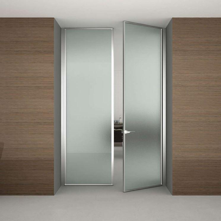 porta alluminio vetro