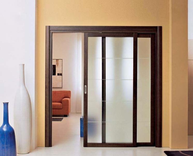 Porte scorrevoli a scomparsa le porte caratteristiche - Porta scorrevole vetro offerta ...