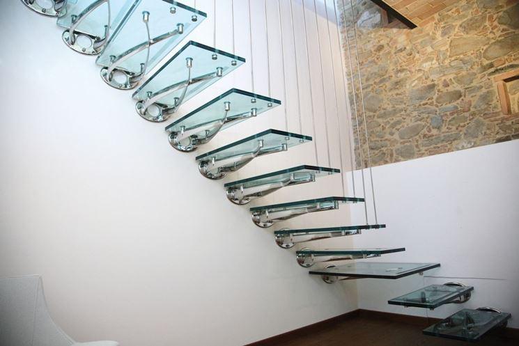scale in vetro e acciaio