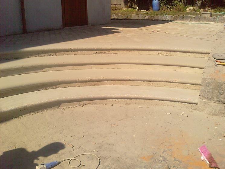 Scala curva in muratura