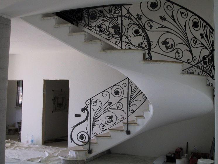 Ringhiere in ferro battuto scale e ascensori ringhiere for Foto di ringhiere in ferro battuto