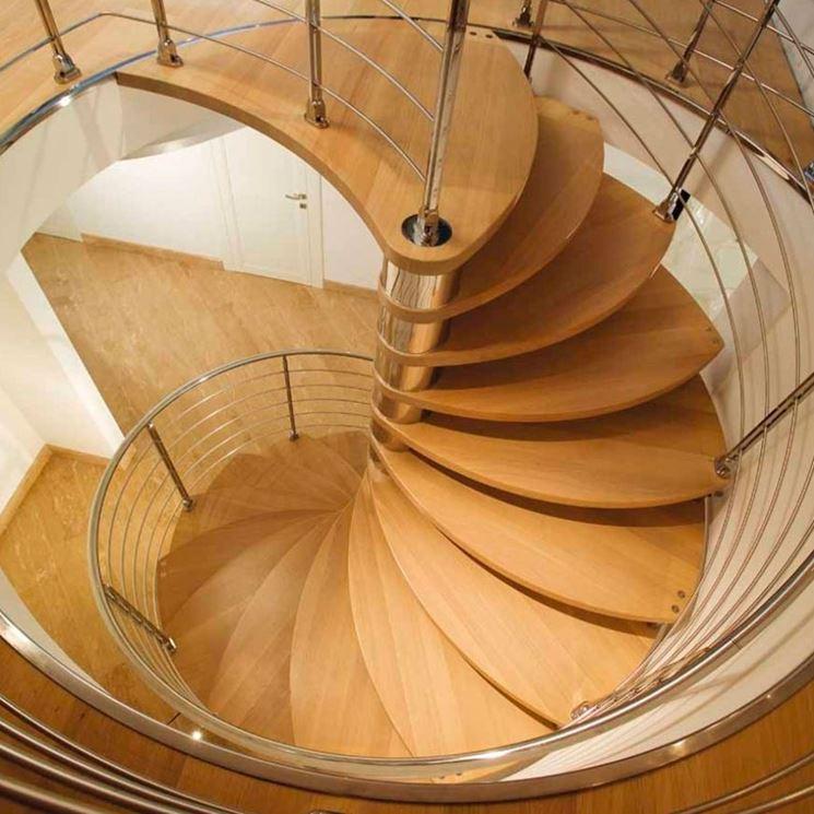scale a chiocciola legno