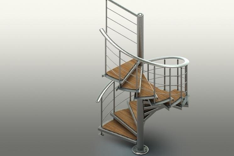 Scale a chiocciola prezzi scale e ascensori scale a for Quadrato della scala a chiocciola