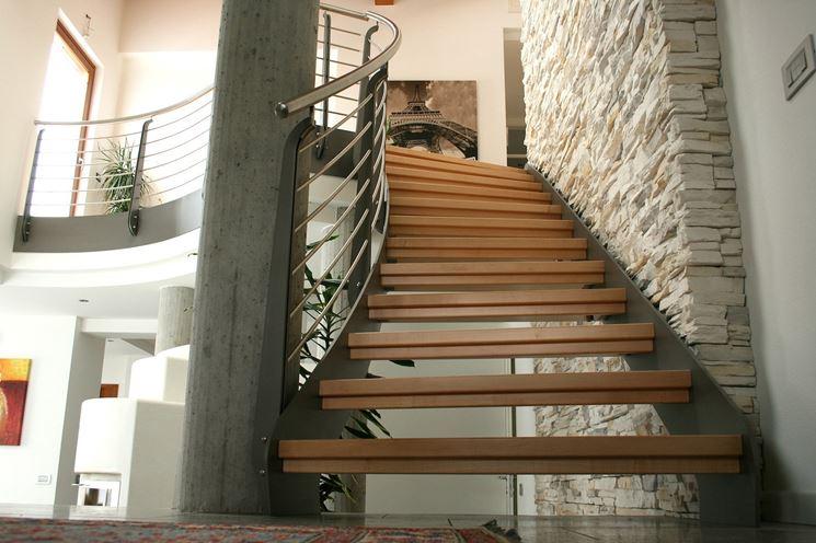 Un esempio di scale autoportanti in legno