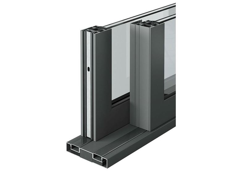 porta finestra in doppio vetro con profilati in alluminio a taglio termico di Mogs S.r.l.