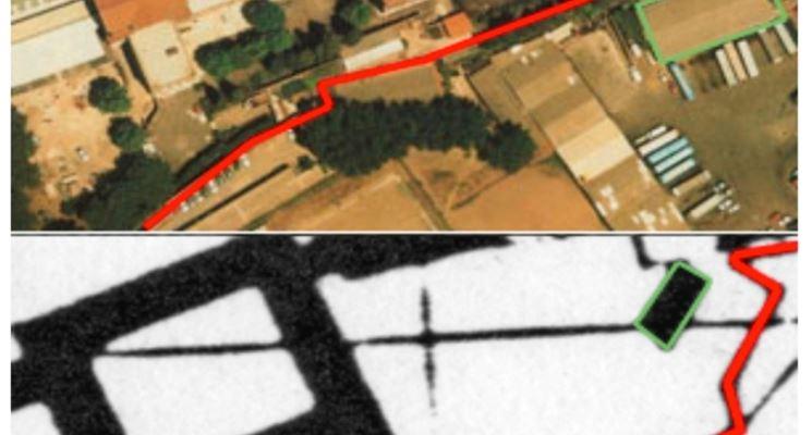 Confronto tra cartografia e fotografia aerea per mappatura catastale