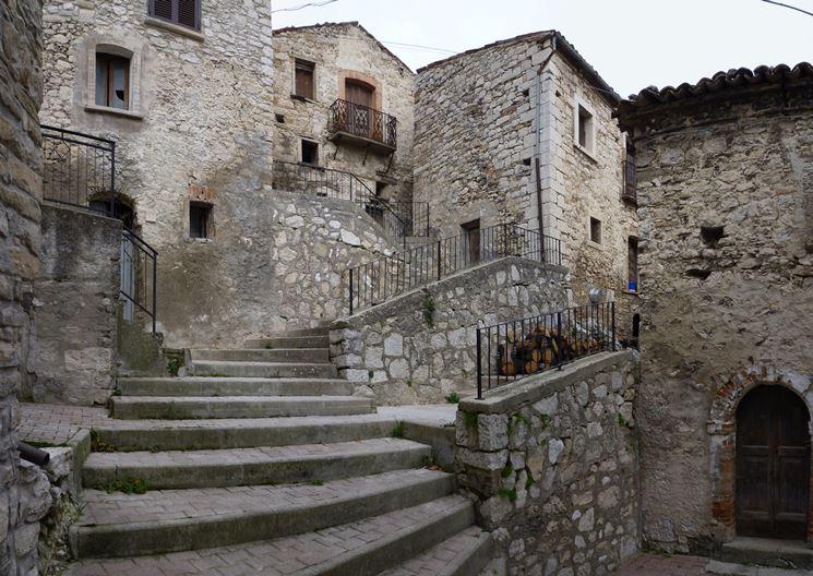 Centro storico di Montelapiano che costituisce una zona censuaria