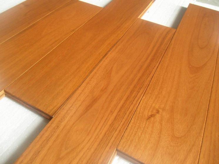 Listelli per parquet di legno di teak
