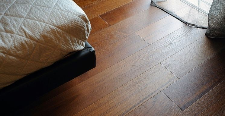 elegante parquet massello in teak