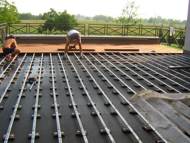 Posare parquet esterni il parquet come installare - Pavimenti galleggianti per esterni ...