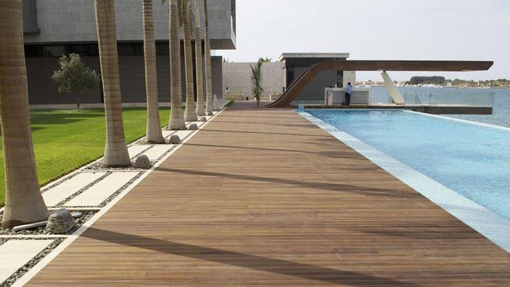 Posare parquet esterni il parquet come installare - Pavimentazione cortile esterno ...