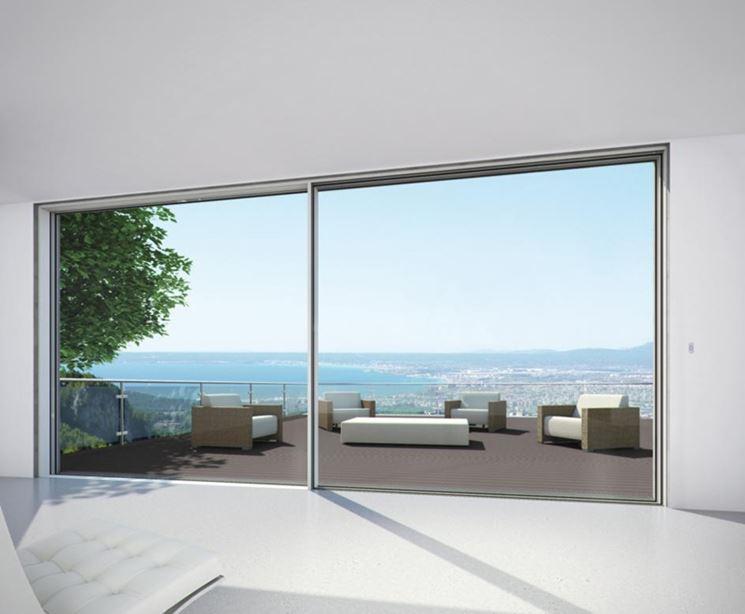 Montare una porta finestra scorrevole le finestre come - Tende per porta finestra scorrevole ...