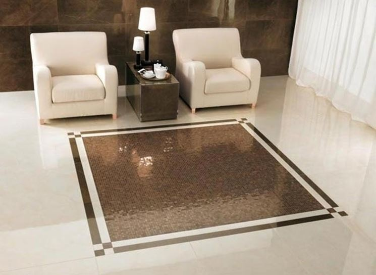 Pavimento in marmo moderno