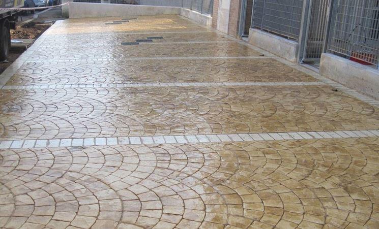 Pavimento in cemento stampato