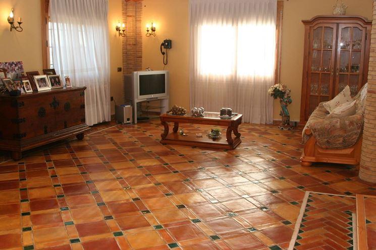 piastrelle in ceramica sul pavimento