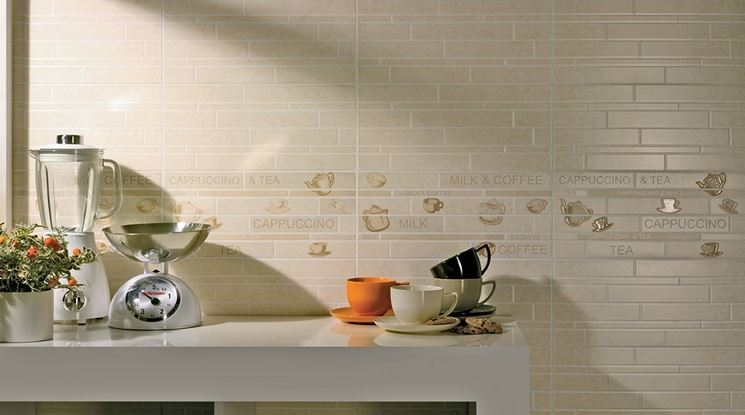 modelli di piastrelle da cucina moderna: piastelle in bicottura