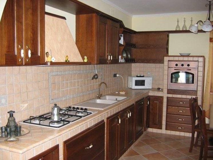 Piastrelle cucina in muratura le piastrelle le for Mattonelle finte per cucina