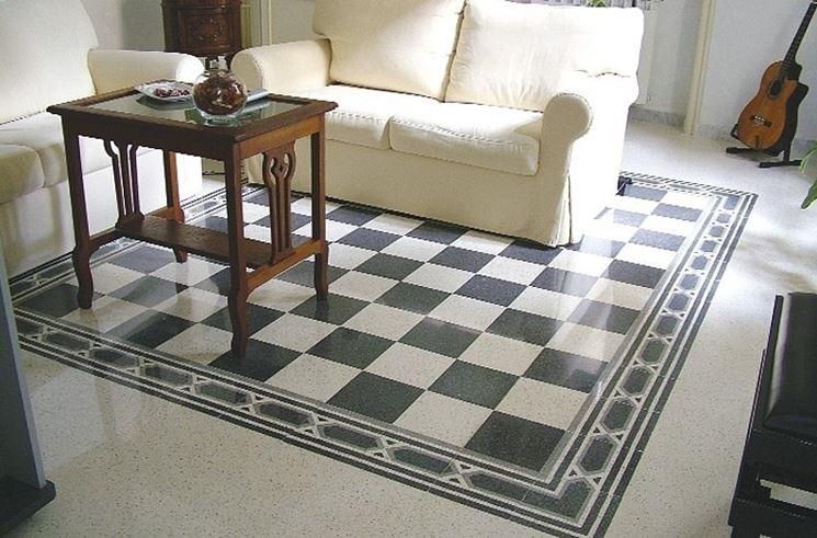 Elegante pavimento in graniglia