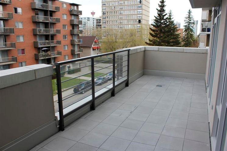 Pavimento per balcone in calcestruzzo