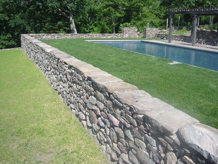 Muro di cinta a vista