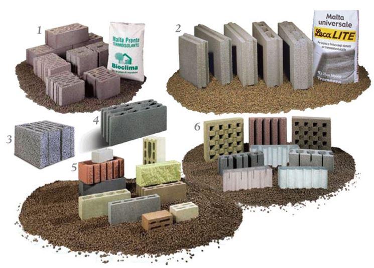 tipologia blocchi per edilizia